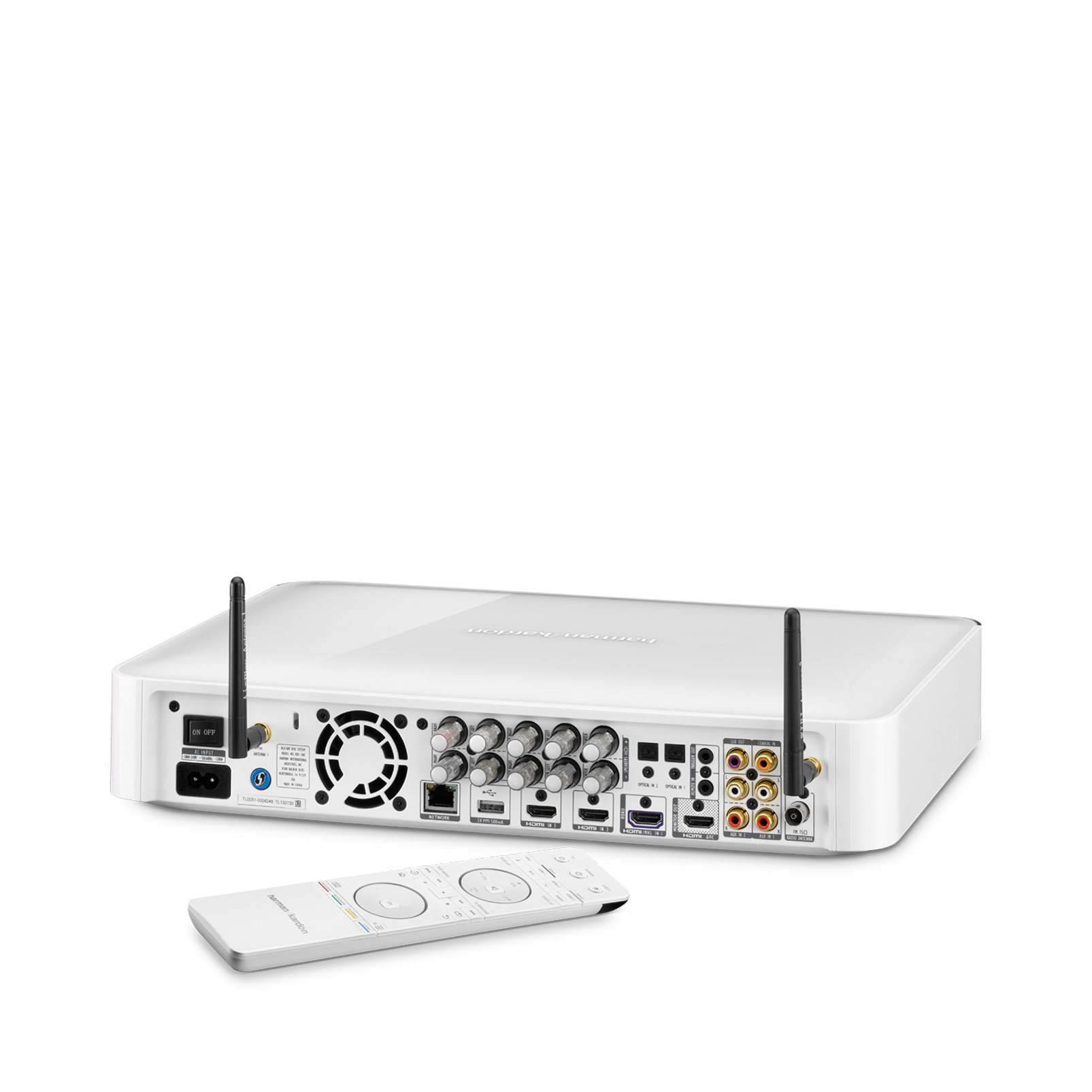 BDS 580S - White - 5.1-channel, 325-watt, 4K upscaling Blu-ray Disc™ Receiver with Spotify Connect, AirPlay and Bluetooth® technology. - Detailshot 2
