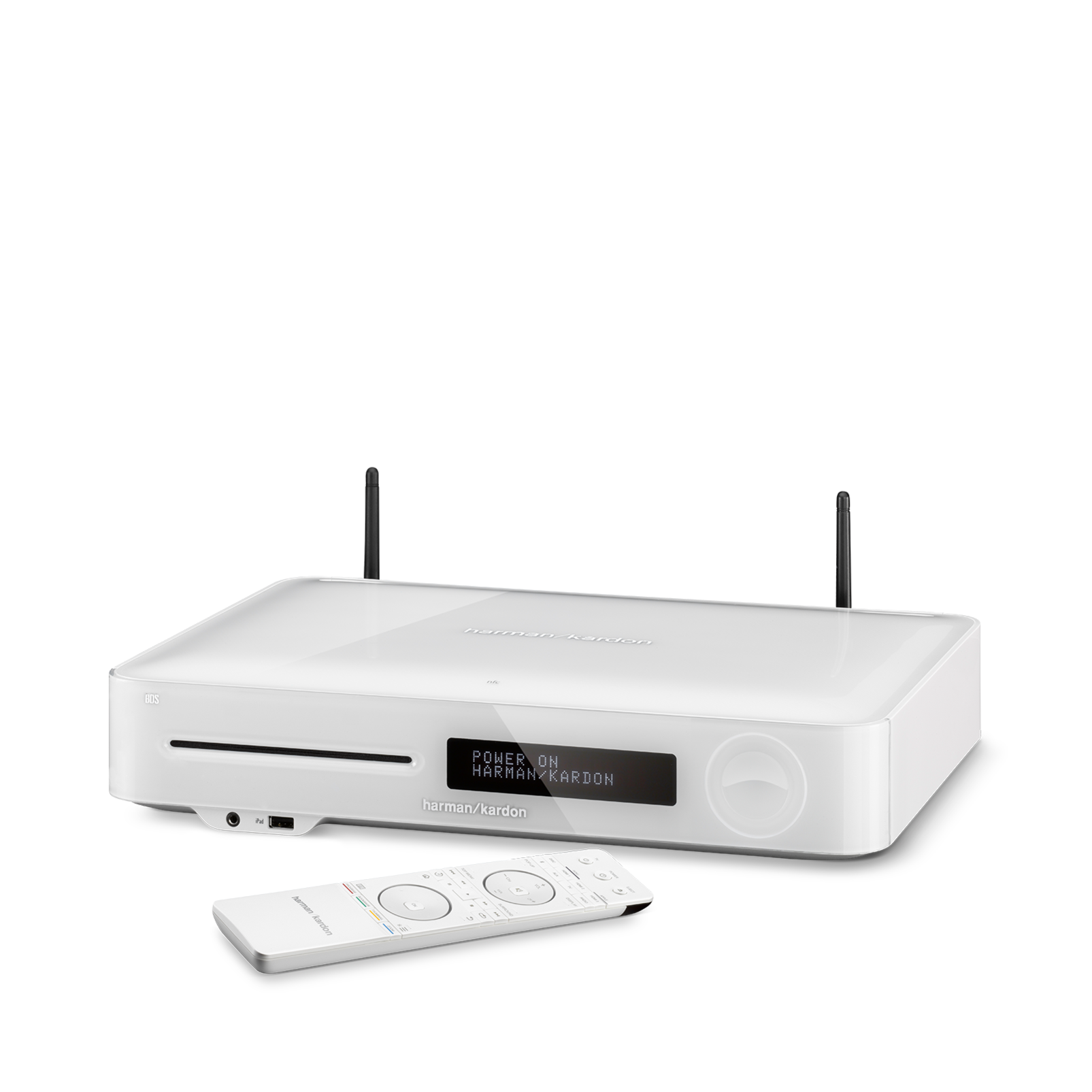 BDS 580S - White - 5.1-channel, 325-watt, 4K upscaling Blu-ray Disc™ Receiver with Spotify Connect, AirPlay and Bluetooth® technology. - Hero