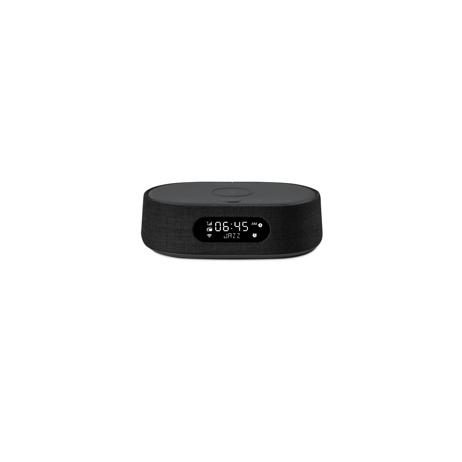 Harman Kardon Citation Oasis FM - Black - Voice-controlled speaker with clock radio and wireless phone charging - Front